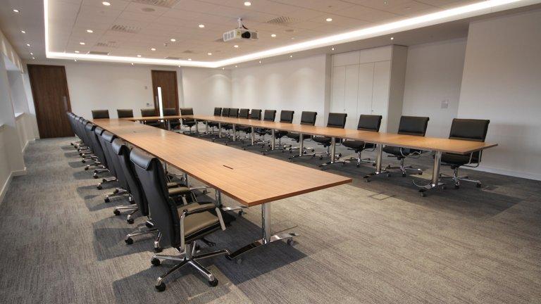 Large boardroom meeting room
