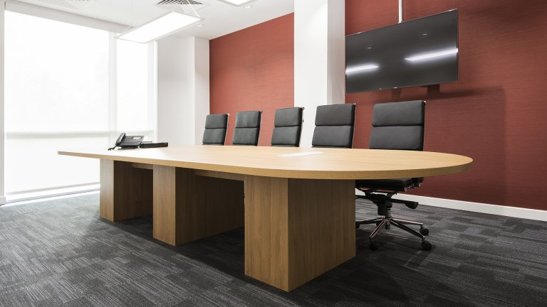 Boardroom without external legs from Ben Johnson Interiors