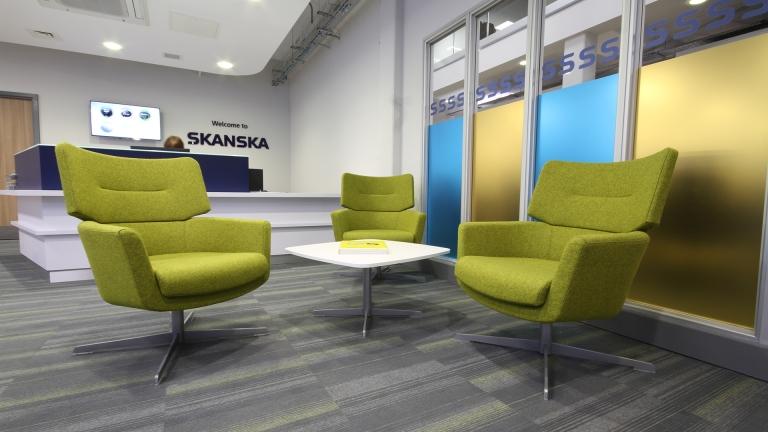 Skanska Reception waiting area