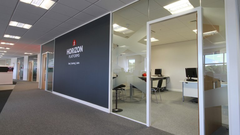 Office partitions fitted by Ben Johnson Interiors