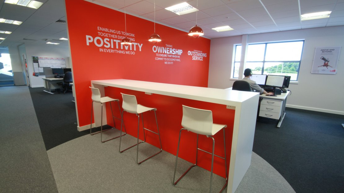 Bespoke office table and seating