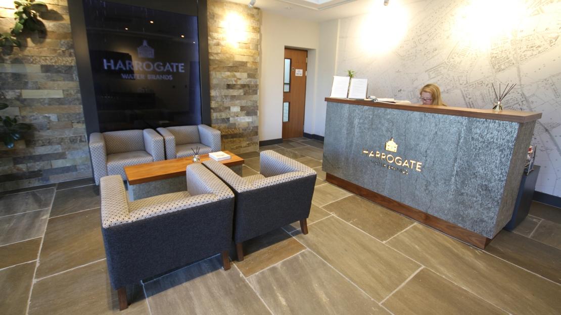 Harrogate Water reception area design - Ben Johnson Interiors