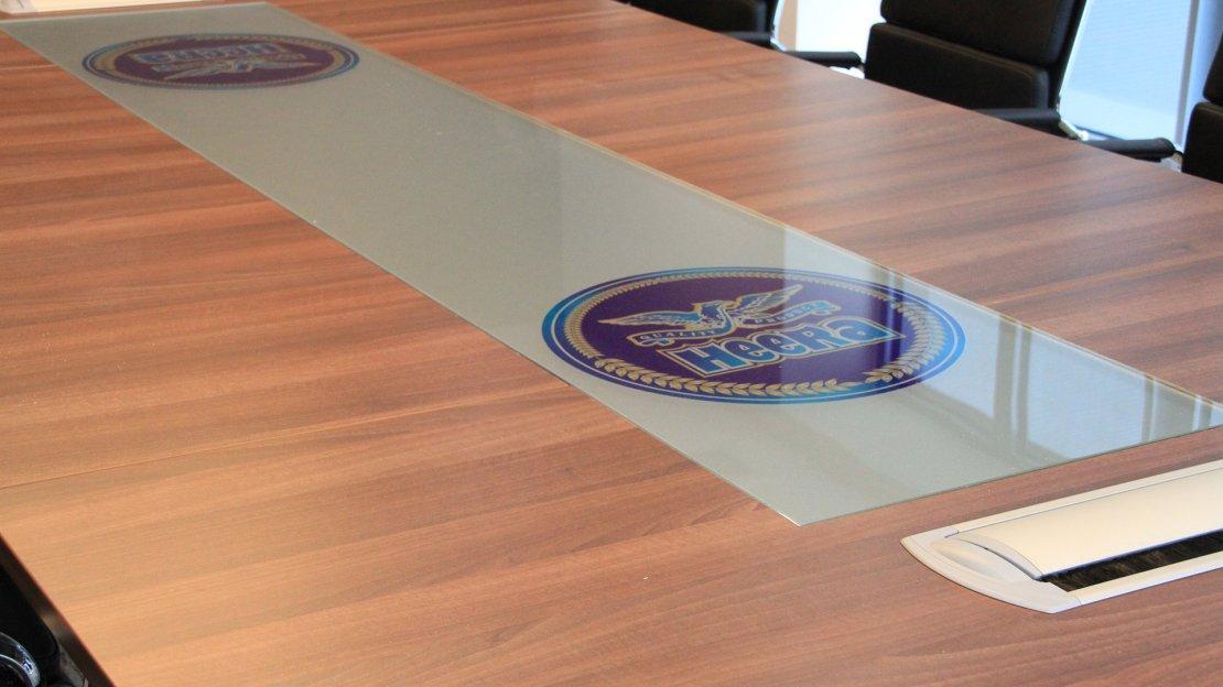 Branded boardroom table