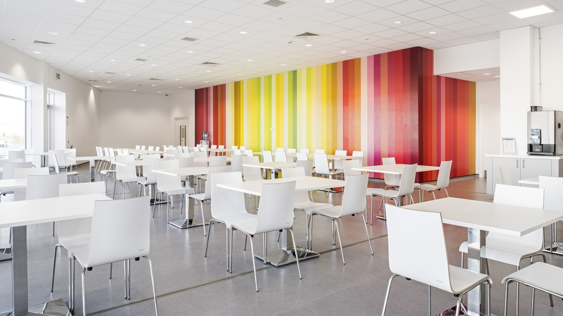 Akzo Nobel UK breakout area created by Ben Johnson Ltd. Another example of how great office interior design can contribute to the employee experience.
