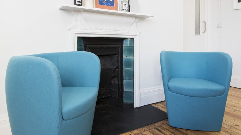 blue tub chairs