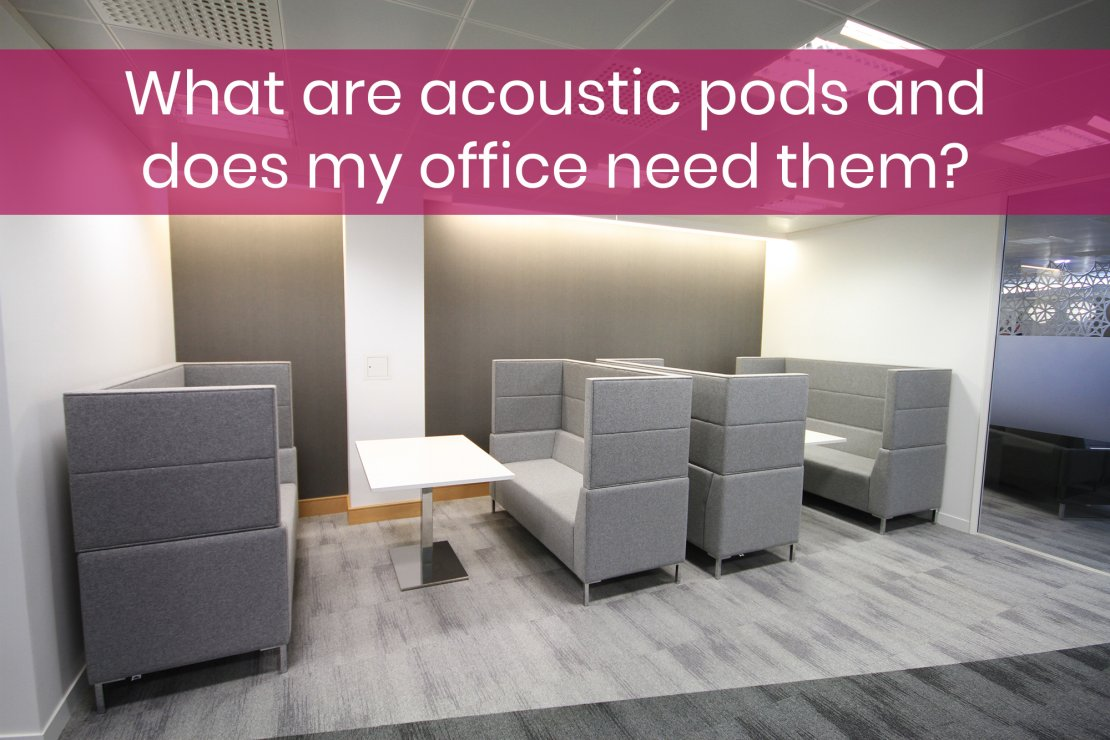 Acoustic pod for furniture page button