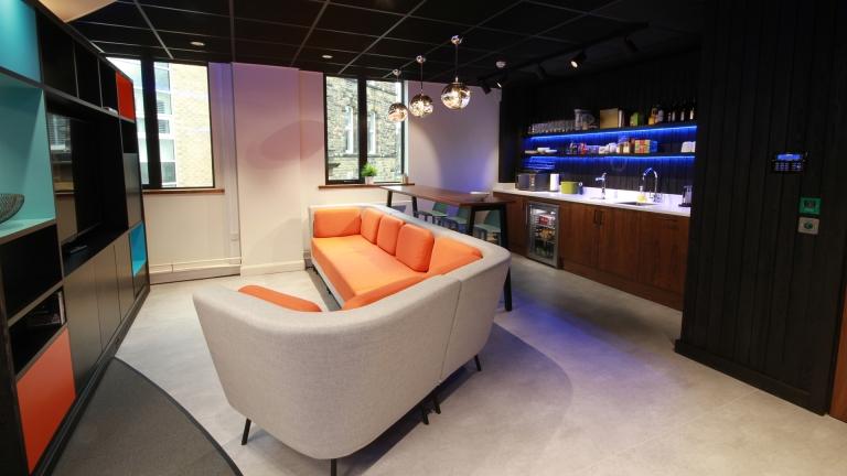 Office breakout area sofa