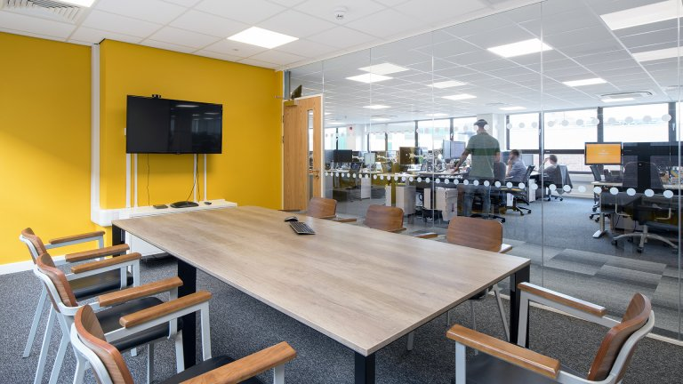 Yellow meeting room