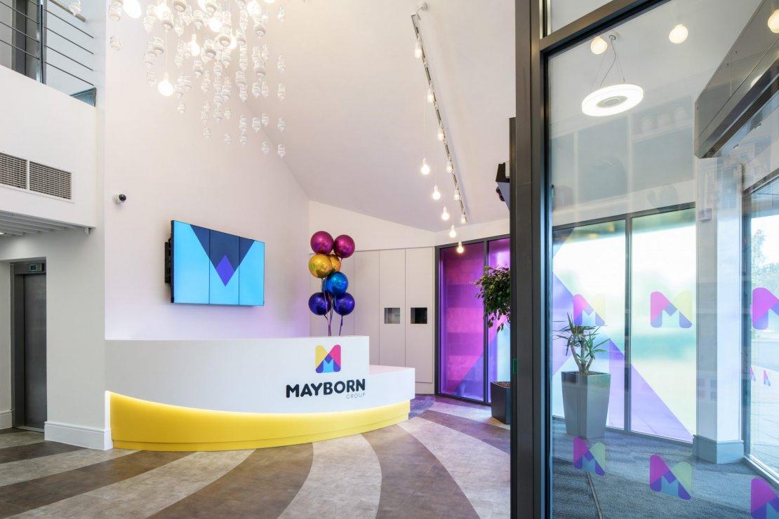 Mayborn reception area design - Ben Johnson Ltd