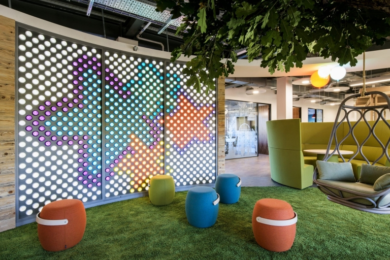 Image shows example of great office interior design at the Mayborn HQ office, created by Ben Johnson Ltd.