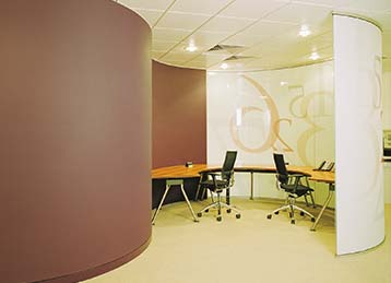 Solid office wall partitioning in Leeds