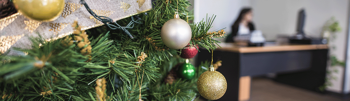 Top Christmas decorations from Leeds Office design