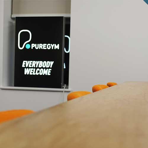 pure gym branding